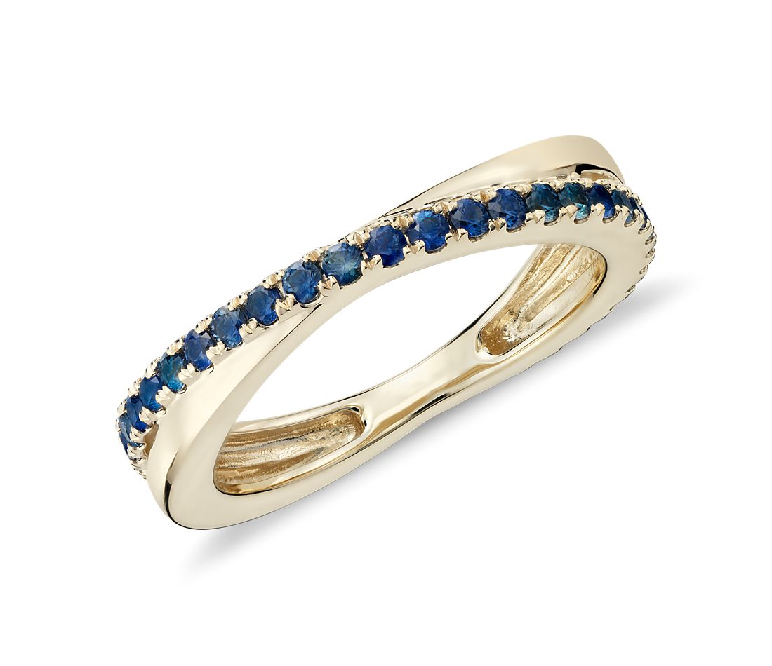 riviera pave sapphire infinity eternity band 14k white gold sapphire wedding bands Need Help