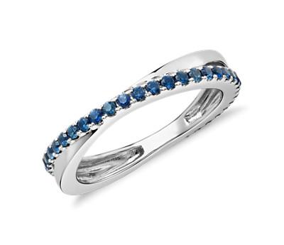 Riviera Pave Sapphire Infinity Eternity Ring