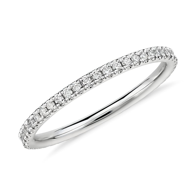 Riviera Petite Micropavé Diamond Eternity Ring in Platinum