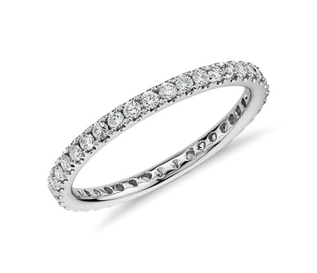 Riviera Pavé Diamond Eternity Ring in 14k White Gold (1/2 ct. tw.)