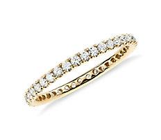 Riviera Pavé Diamond Eternity Ring in 18k Yellow Gold