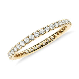 Riviera Pavé Diamond Eternity Ring in 18k Yellow Gold (1/2 ct. tw.)