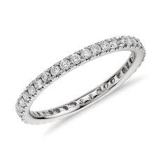 鉑金Riviera 密釘鑽石永恆戒指(1/2 克拉總重量)