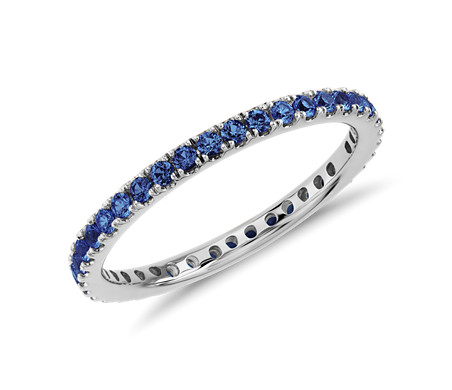 eternity sapphire anniversary products gold ring white bands band