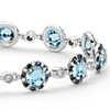 Blue Topaz and Diamond Bracelet in 14k White Gold