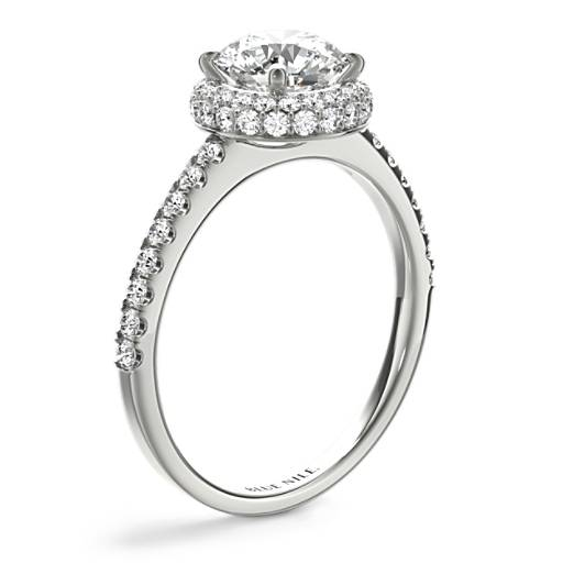 Rollover Diamond Halo Engagement Ring