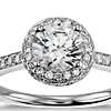 Halo Diamond Engagement Ring in Platinum