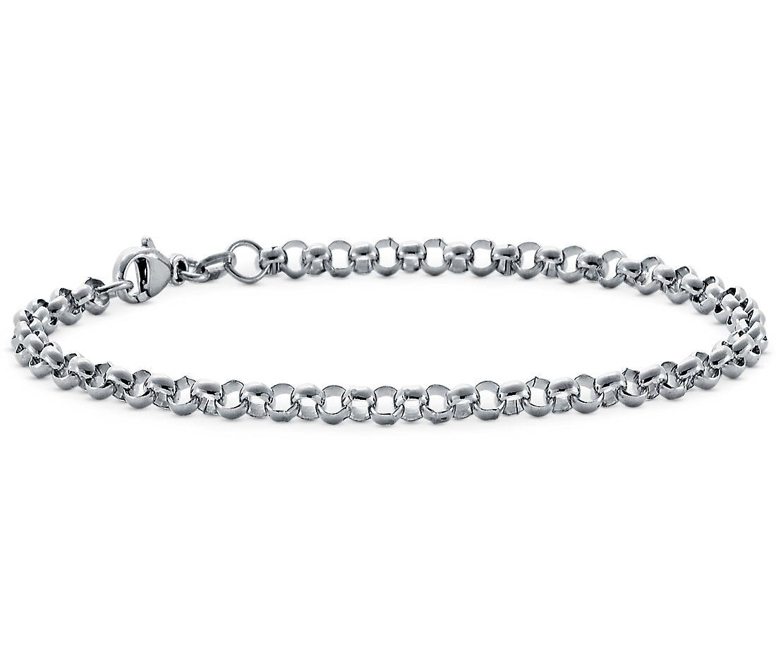 Rolo Chain Bracelet in Platinum