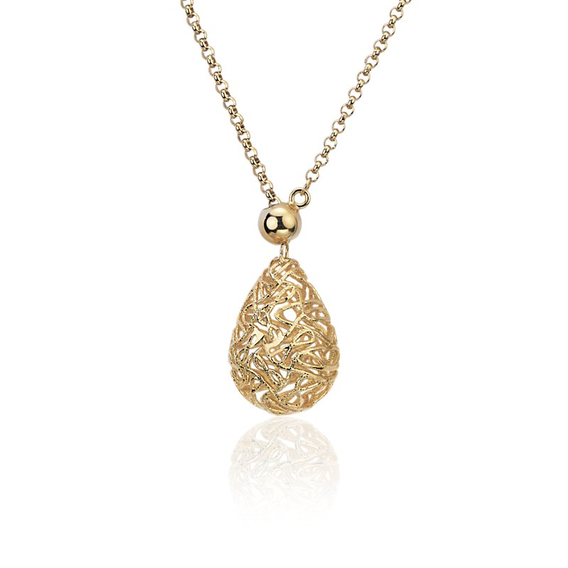 Rolo Sphere Necklace in 18k Yellow Gold