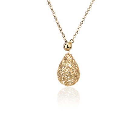 Rolo Sphere Necklace in 18k Italian Yellow Gold