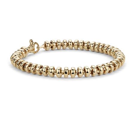 Rondel Bracelet in 14k Yellow Gold