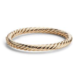 Rope Bangle Bracelet in 14k Yellow Gold