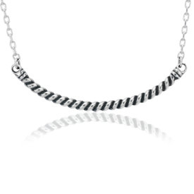 NEW Rope Bar Smile Necklace in Sterling Silver