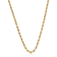 Rope Chain in 14k Yellow Gold (1.15mm)