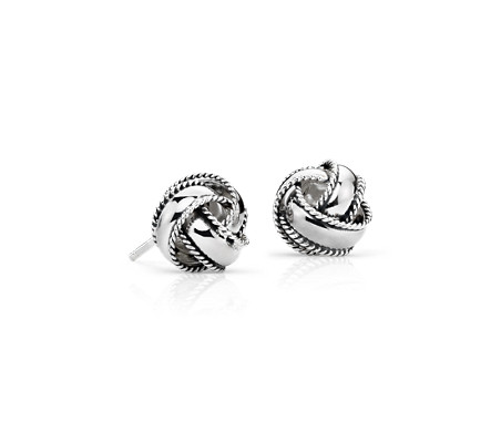wholesale knot sparkling stud silver love pan gift for jewelry accessories in item knots compatible women earrings from on sterling with
