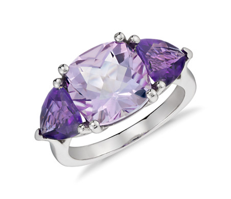 Blue Nile Amethyst Cushion Cocktail Ring in 14k White Gold (11x9mm) QdemBNkoc7