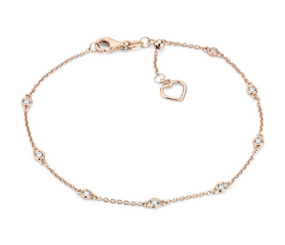 Diamond Station Heart Bracelet