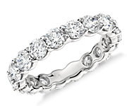 Round Diamond Eternity Rings in Platinum