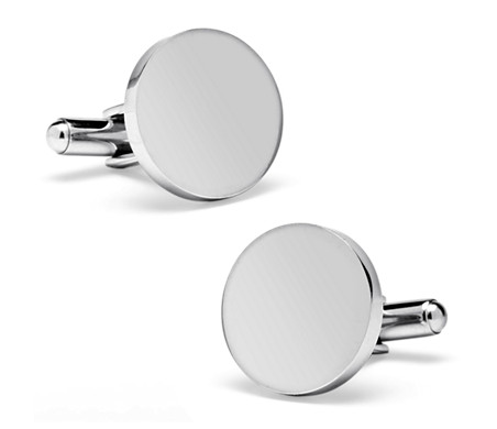 Blue Nile Round Cuff Links in Stainless Steel bbpn1fhUo