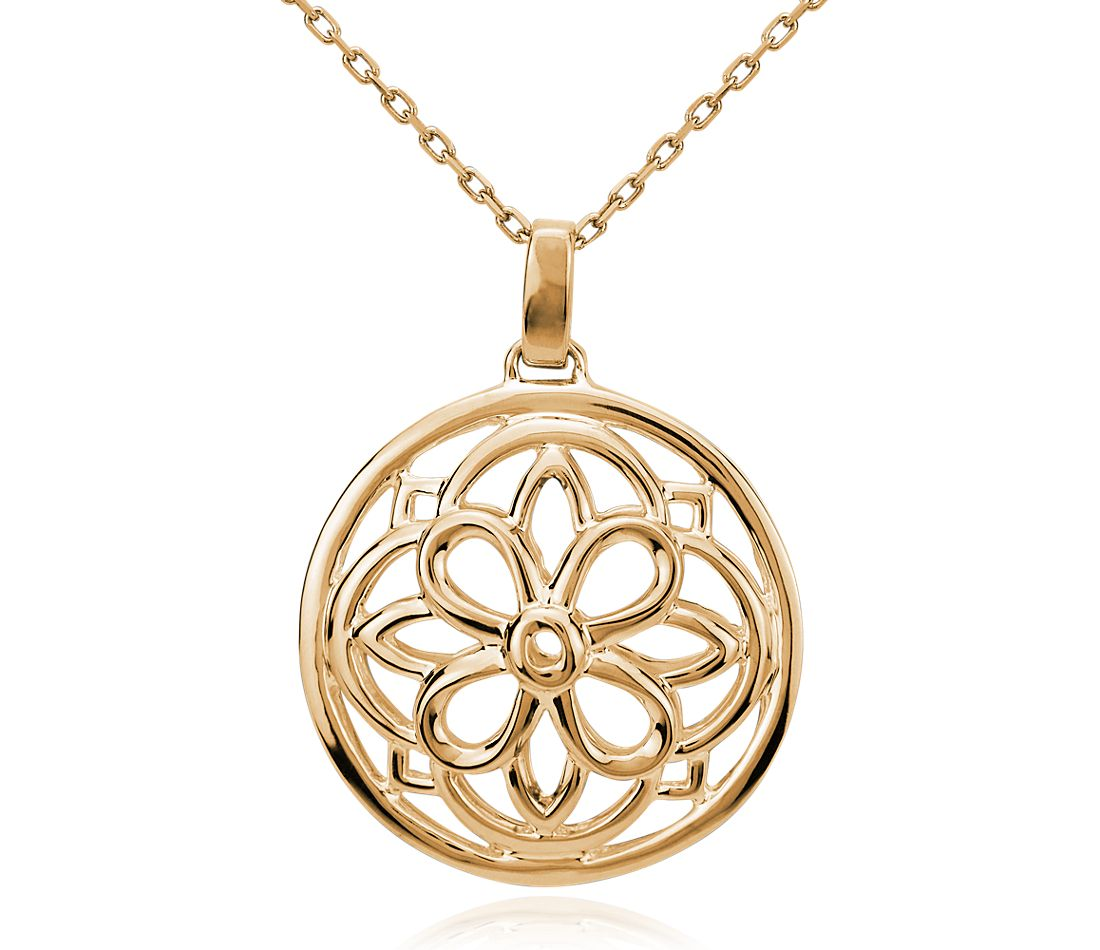 Round Medallion Necklace in 14k Yellow Gold   Blue Nile