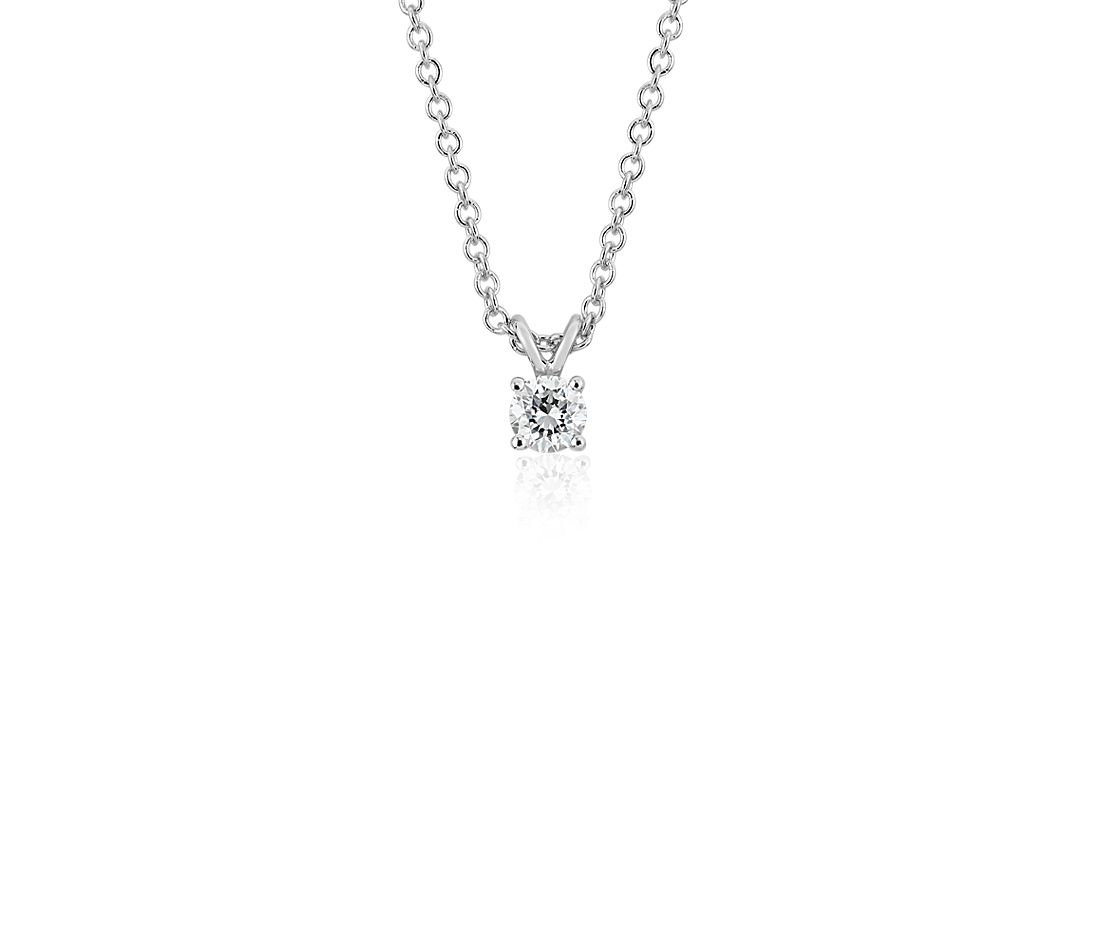 14k White Gold Four-Claw Double-Bail Diamond Pendant (0.30 ct. tw.)
