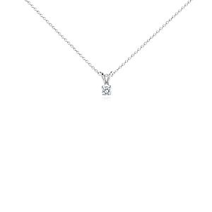 Diamond Solitaire Pendant in 14k White Gold (1/3 ct. tw.)