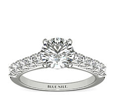 Royal Crown Diamond Engagement Ring in Platinum (0.44 ct. tw.)