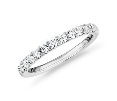 Bague en diamant couronne royale en platine (1/2carat, poids total)