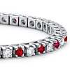Ruby and Diamond Bracelet in 18k White Gold (1 1/2 ct. tw.)