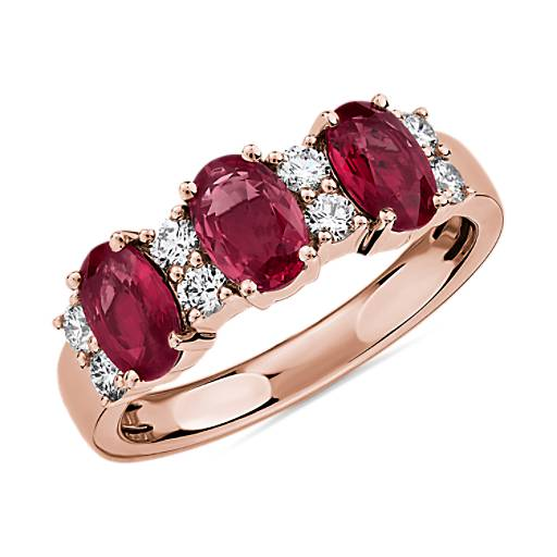 Ring handgefertigten Ring Blue Sapphire Ring und Rose Ruby Ring F1Q3