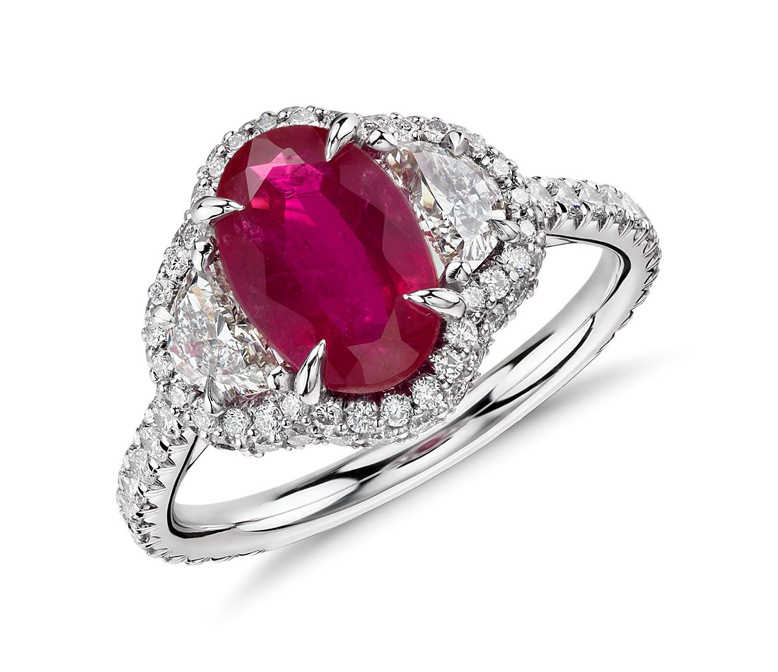 extraordinary collection - Ruby Wedding Rings