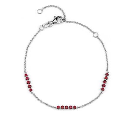 Ruby Station Bar Bracelet