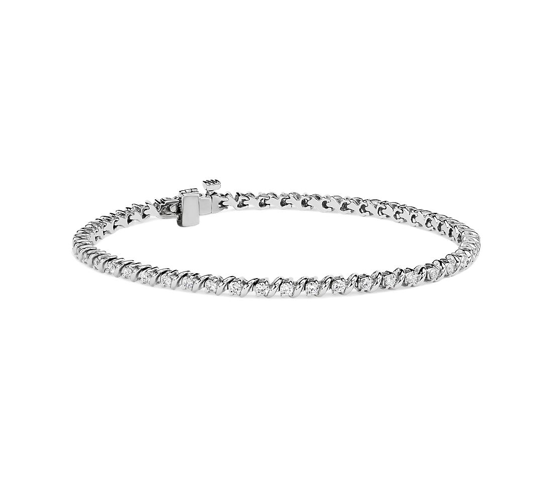 S-Link Tennis Bracelet in 14k White Gold (1 ct. tw.)