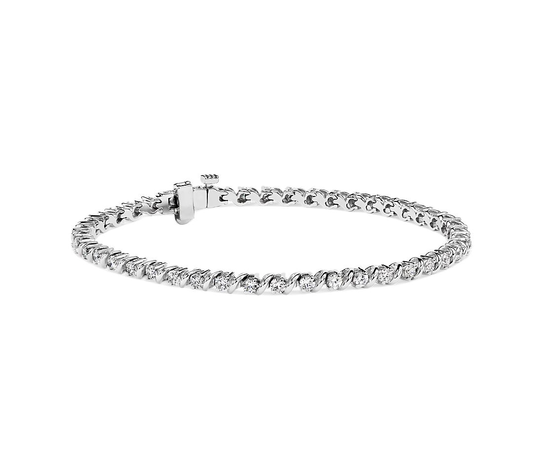 S-Link Tennis Bracelet in 14k White Gold (2 ct. tw.)