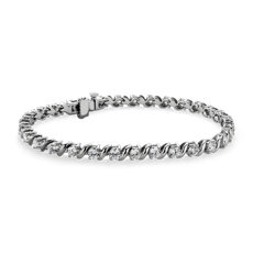 NEW S-Link Tennis Bracelet in 14k White Gold (5 ct. tw.)