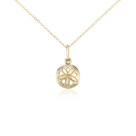 Sand Dollar Pendant in 14k Yellow Gold