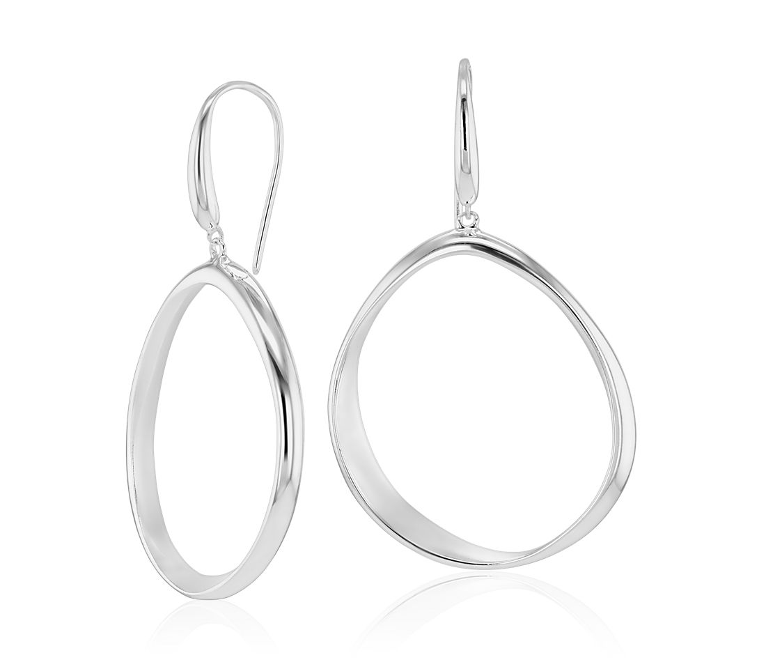 Sandblast Shore Earrings in Sterling Silver