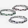 première vue alternative de la Bracelet diamants et saphirs dispersés- Or blanc 18carats