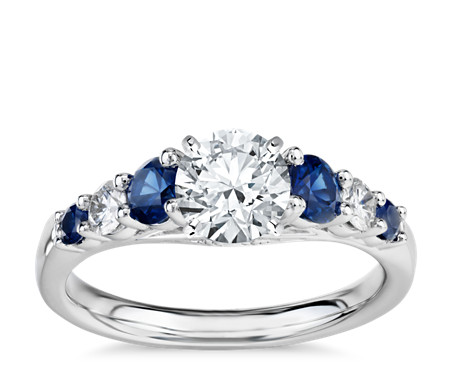 engagement ceylon and ring blue diamond diana sapphire beautiful