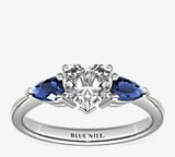 Classic Pear Shaped Sapphire Engagement Ring