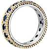 Sapphire and Diamond Roped Eternity Ring in 18k Yellow and White Gold