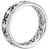 Gala Sapphire and Diamond Eternity Ring in 18k White Gold