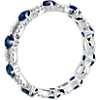 18k 白金蓝宝石与钻石椭圆形永恒戒指