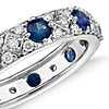 Starlight Sapphire and Diamond Eternity Ring in 18k White Gold
