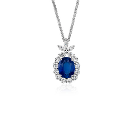 ceylon carat sapphire jewelry necklace diamond collar blue