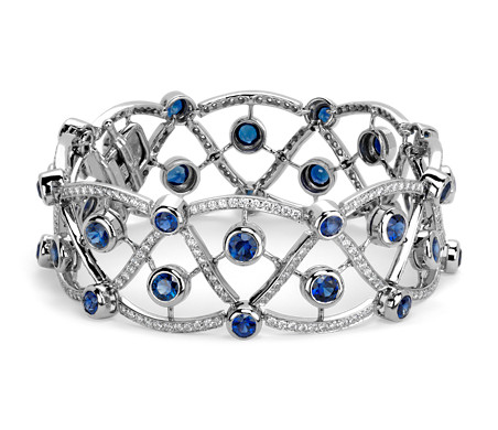 Sapphire and Diamond Bracelet in Platinum (8.54 cts)