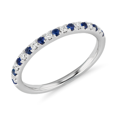 bague diamant et saphir or