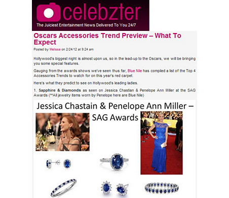 Celebzter - Oscar Accessory Trend Preview | Sapphires As Seen on Penelope Ann Miller