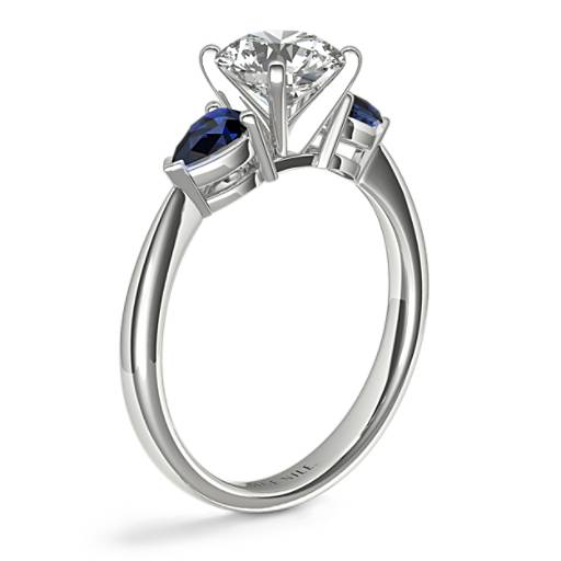 Classic Pear Shaped Sapphire Engagement Ring Setting