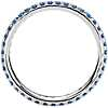 Riviera Pavé Sapphire Eternity Ring in 18k White Gold